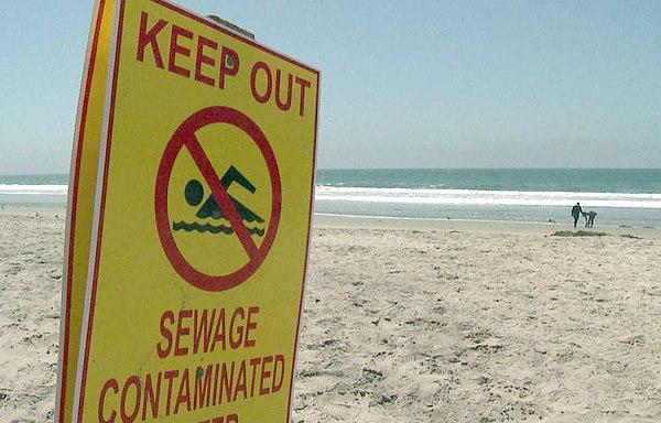 Sewage contamination sign