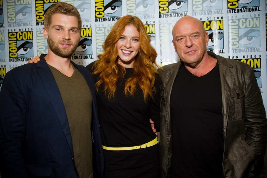 Mike Vogel, Rachelle Lefevre, and Dean Norris from Under the Dome