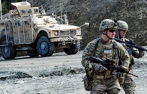 Troops Patrol in Afghanistan