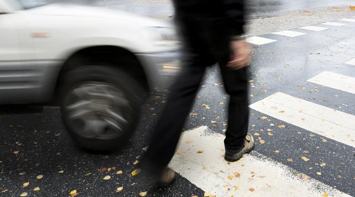 Pedestrian Hit by Car in Crosswalk