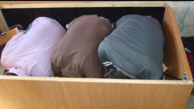 Men Found Packed In Storage Box