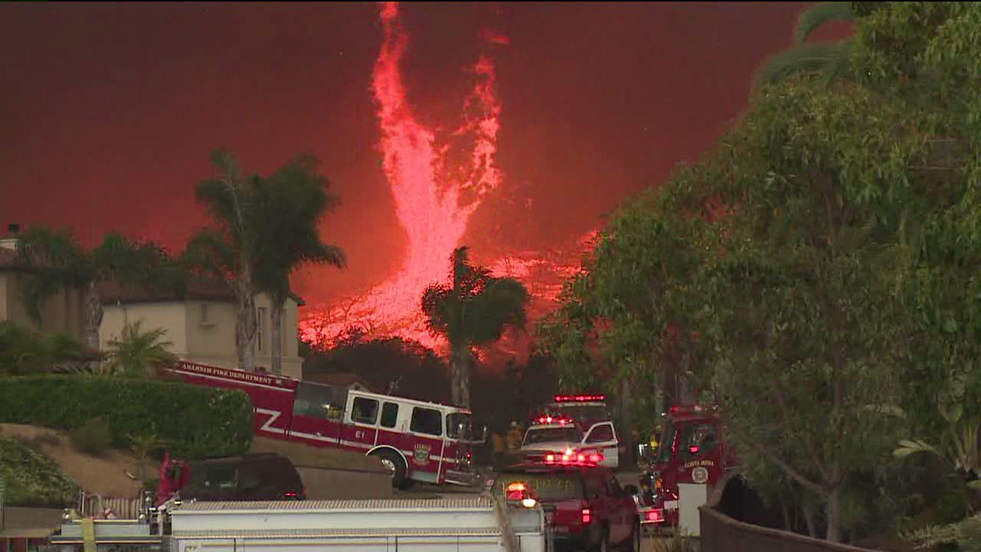 San Marcos firestorm