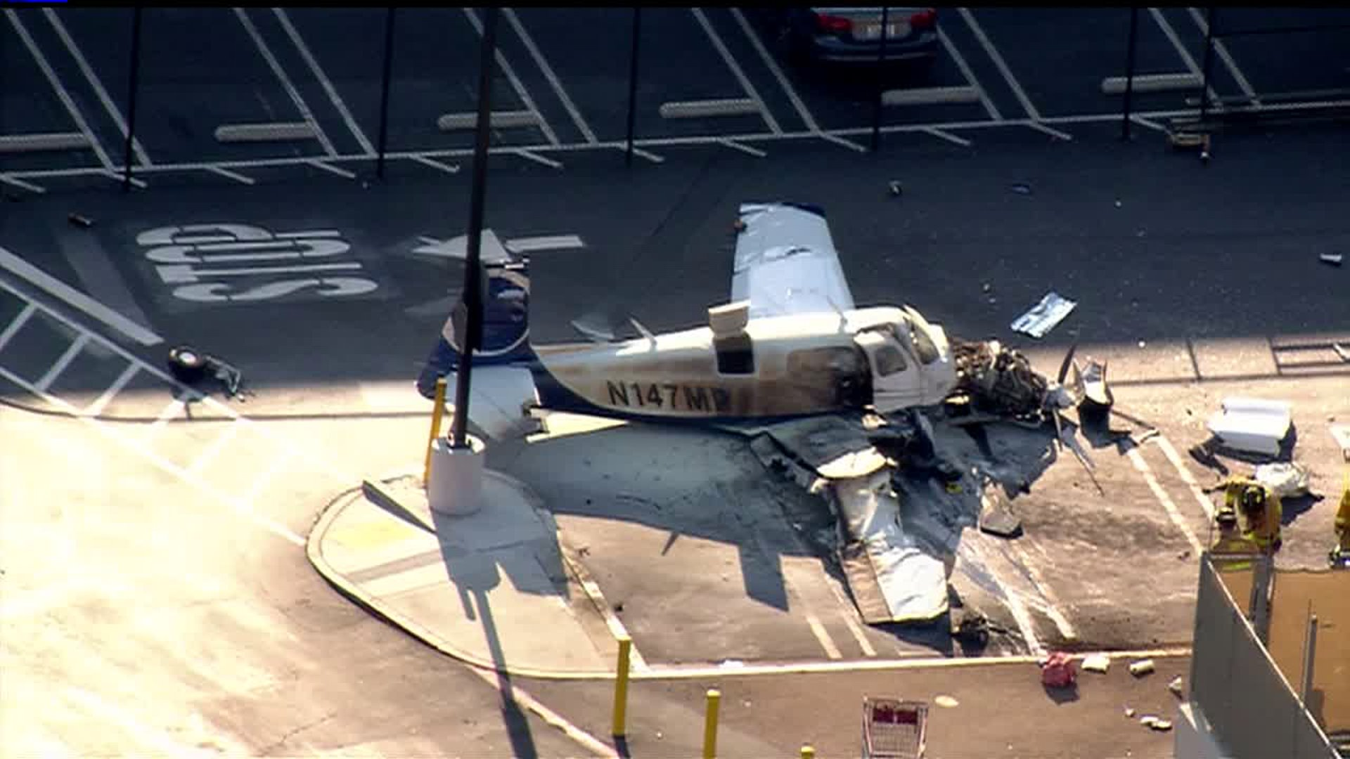 Plane crash at Costco parking