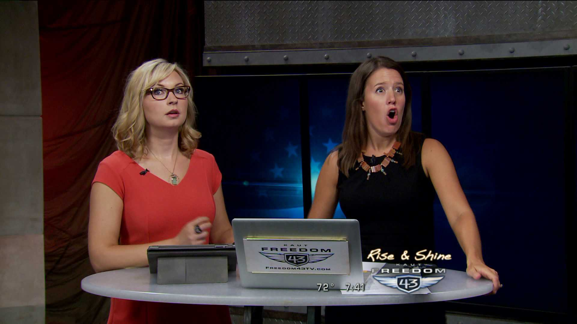 KFOR anchors react to earthquake