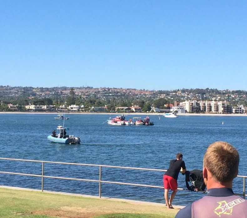 Lifeguards search for missing kayaker