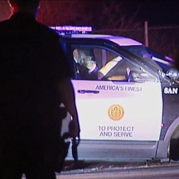 san diego police department, night