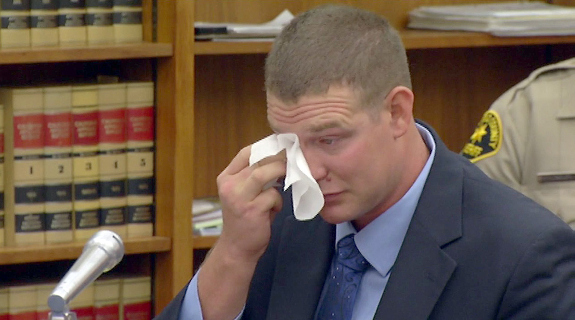 Christopher Hays Cries at Sentencing
