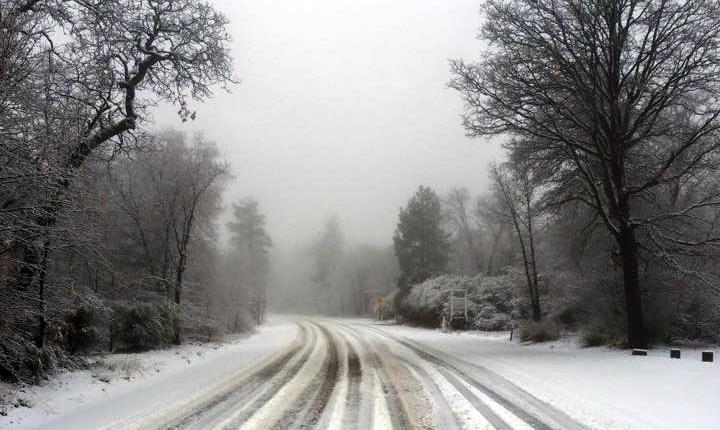 Snow on Sunrise Highway