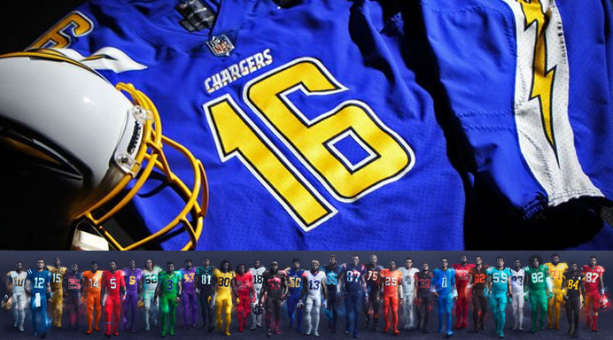 san diego chargers away jersey color