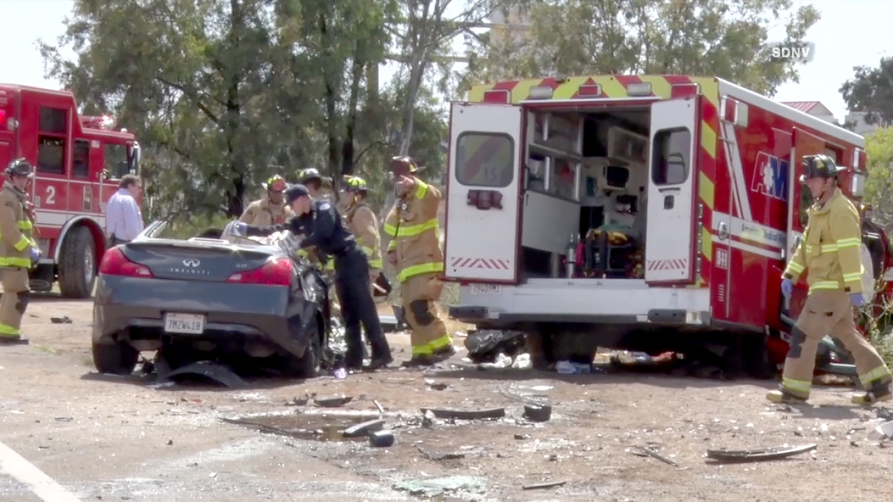 5 Injured When Ambulance Collides With Cars