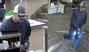 The FBI released these security camera images of the man who robbed a US Bank in El Cajon. (Photo: FBI San Diego)+