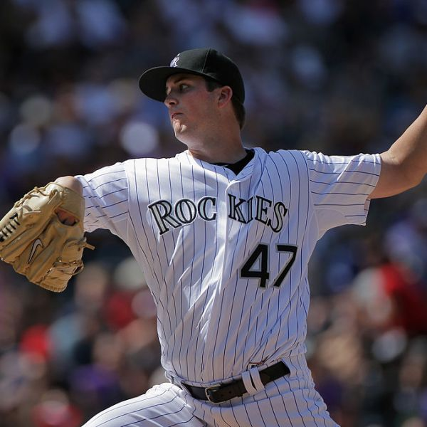 DENVER, CO - SEPTEMBER 11: Starting pitcher Drew Pomeranz #47 of the Colorado Rockies delivers against the Cincinnati Reds at Coors Field on September 11, 2011 in Denver, Colorado. Pomeranz earned the win making his major league debut as the Rockies defeated the Reds 4-1.. (Photo by Doug Pensinger/Getty Images)