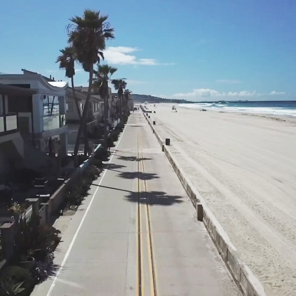 Beaches in San Diego were closed to enforce social distancing during the coronavirus crisis.