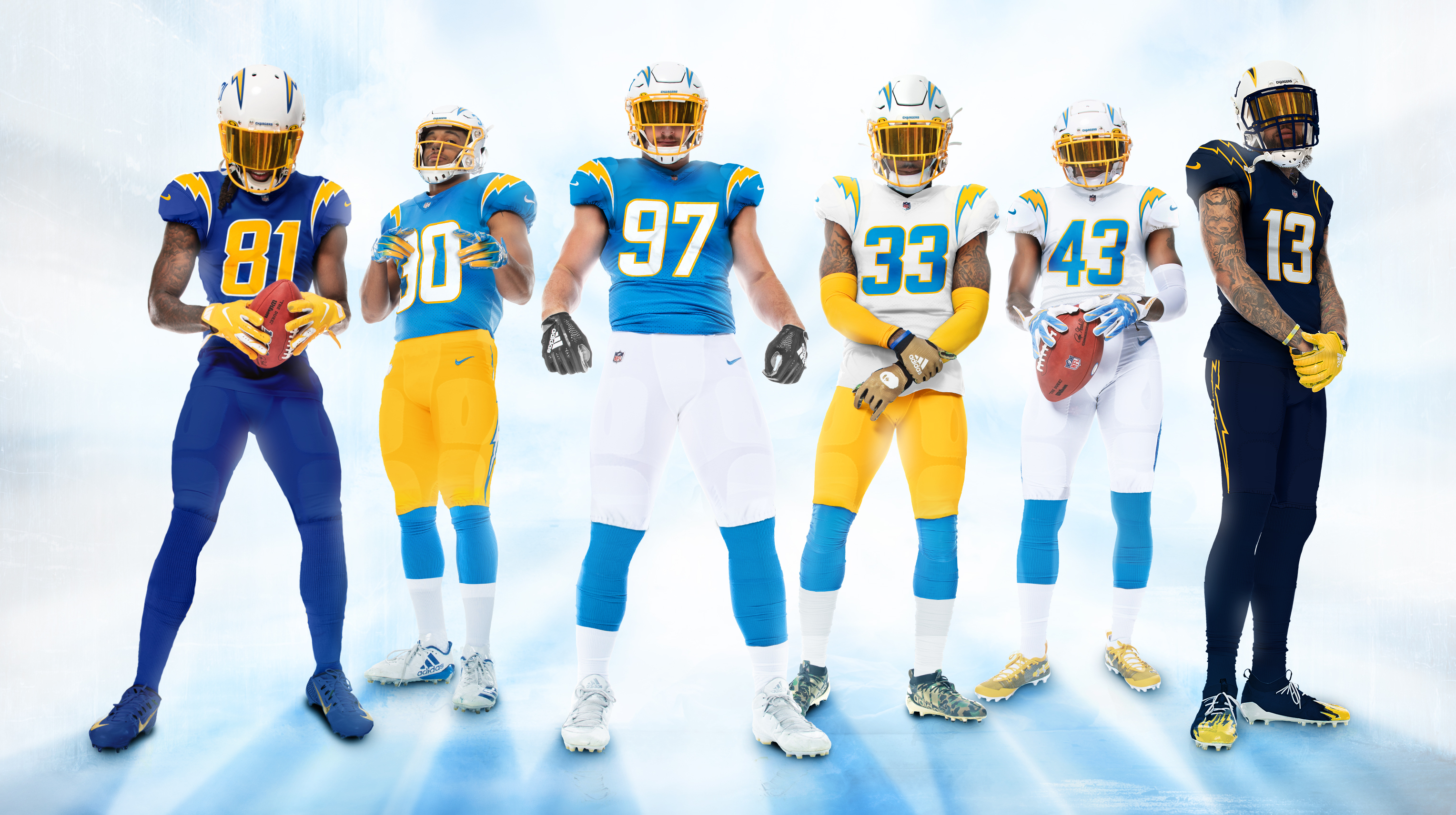 Chargers Unveil Uniforms With New Bolts Plenty Of Powder Blue Fox 5 San Diego