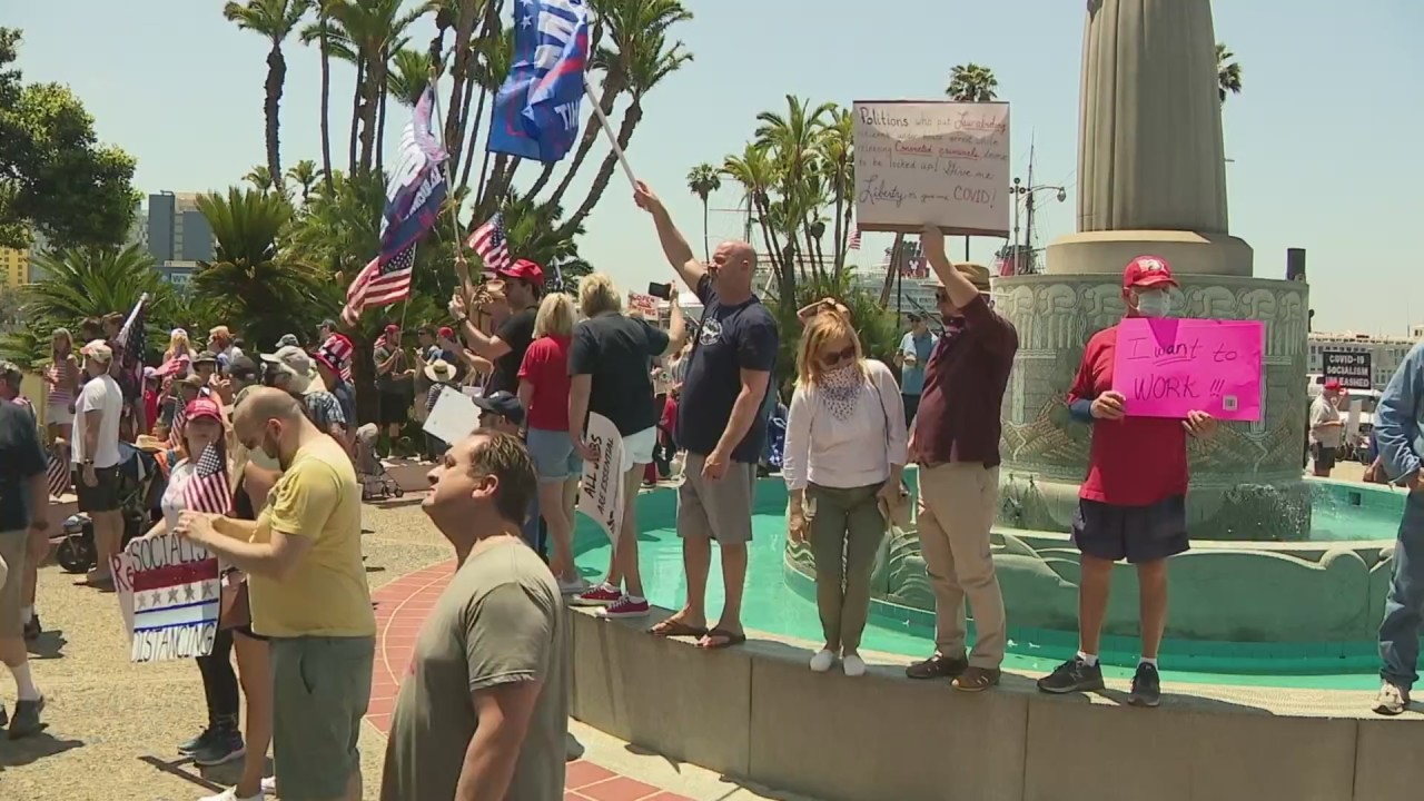 Protesters call for 'complete reopening' of San Diego
