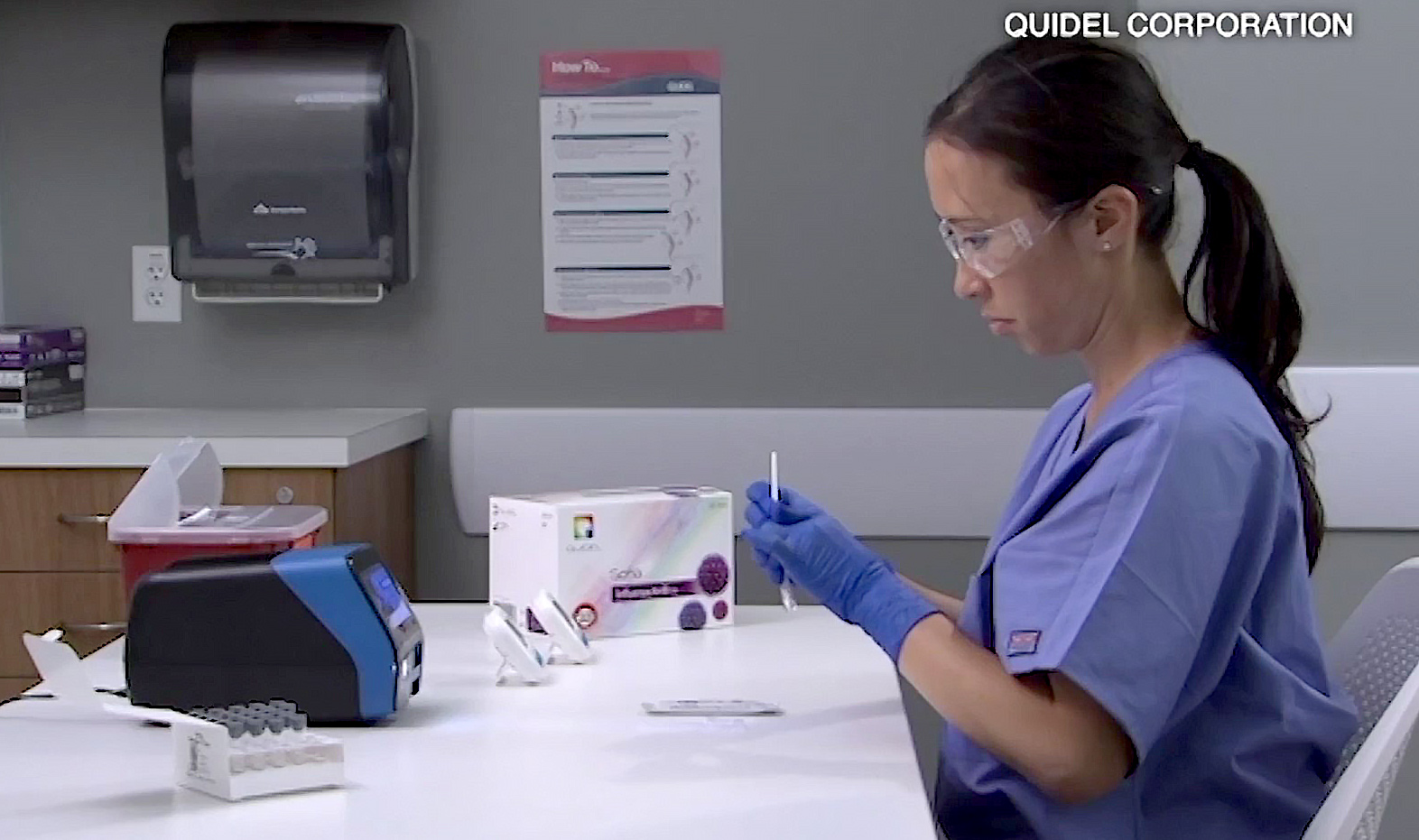 "Quidel Corporation in Sorrento Valley is manufacturing a new coronavirus test – which some health officials call ""a game changer."" (Video: Quidel Corp.)"