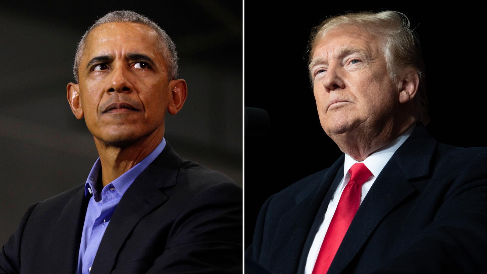 Presidents Barak Obama and Donald Trump