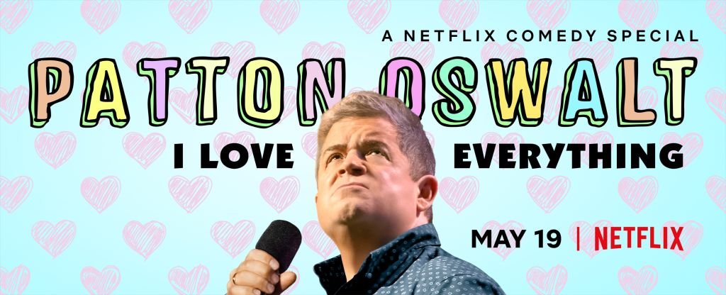 Patton Oswalt with his latest stand-up special.