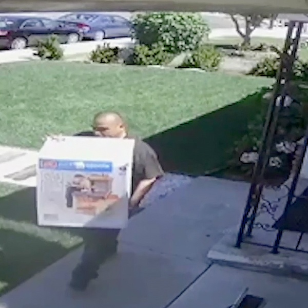 This man was caught on a security camera steeling a package from the porch of a home in Chula Vista.