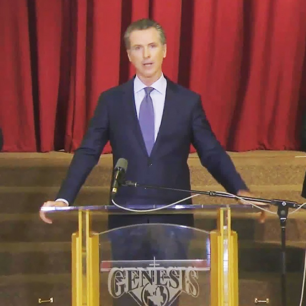 Gov. Gavin Newsom said Monday he understands the frustrations of people who have been protesting police brutality across the state, but he lashed out at those who are taking advantage of the unrest to engage in looting.