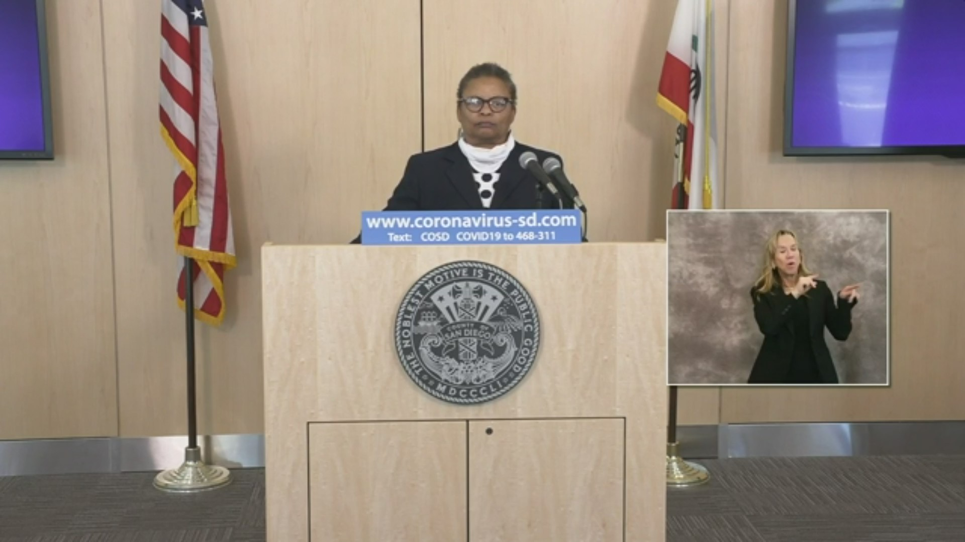 San Diego County Public Health Officer Dr. Wilma Wooten