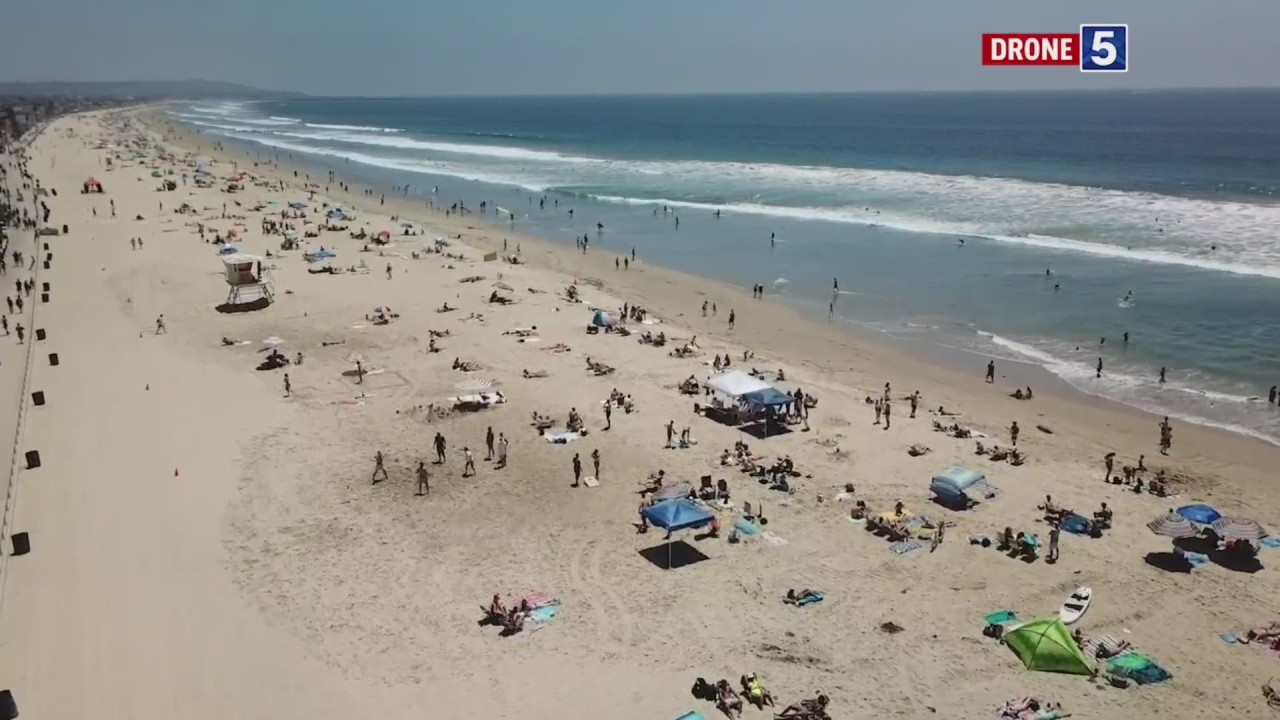 Crowds flock to San Diego beaches ahead of holiday weekend