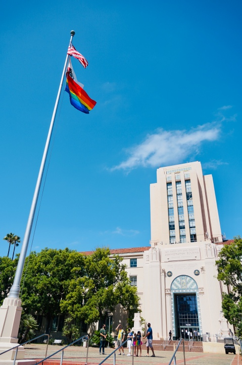 In a first, pride flag raised over County Administration Center