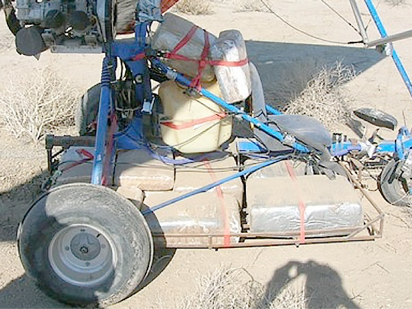 Border Patrol agents said they intercepted drugs dropped from an ultalight aircraft similar to this one. (Photo: U.S. Customs and Border Protection)