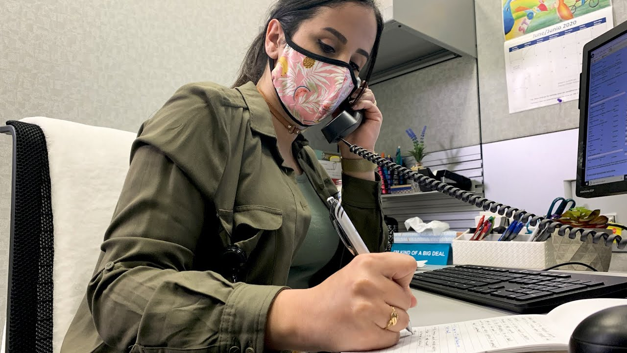 County employee Esma Al Sabag is doing contact tracing in English and Arabic. (Photo: San Diego County)