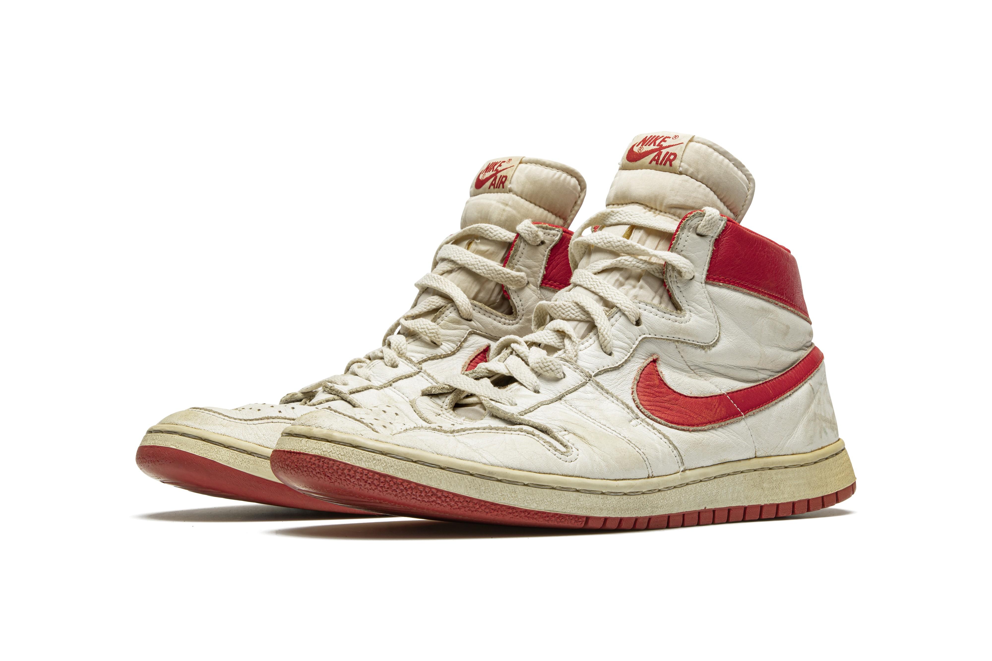 Michael Jordan game-worn sneakers could