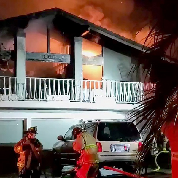 Two people died when fire tore through a home in La Jolla early Monday.