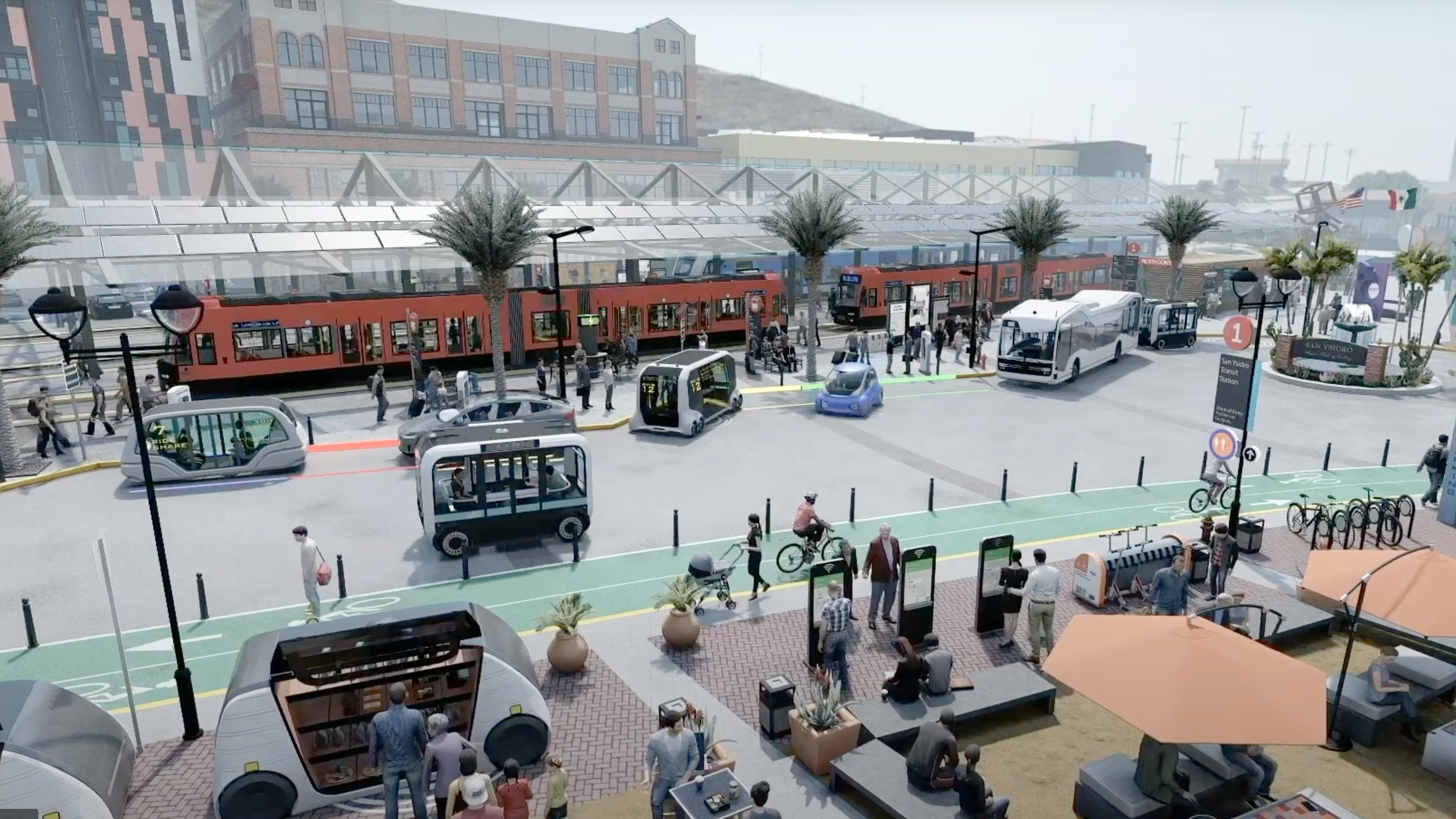 A vision of San Diego's transportation future from a SANDAG promotional video,
