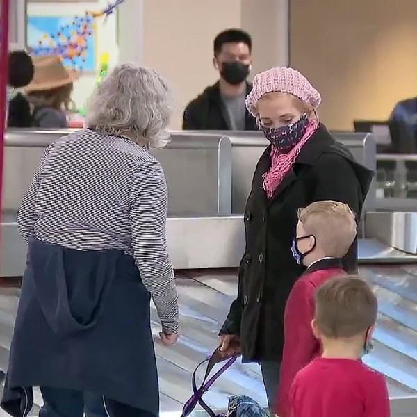 Travelers at San Diego International Airport