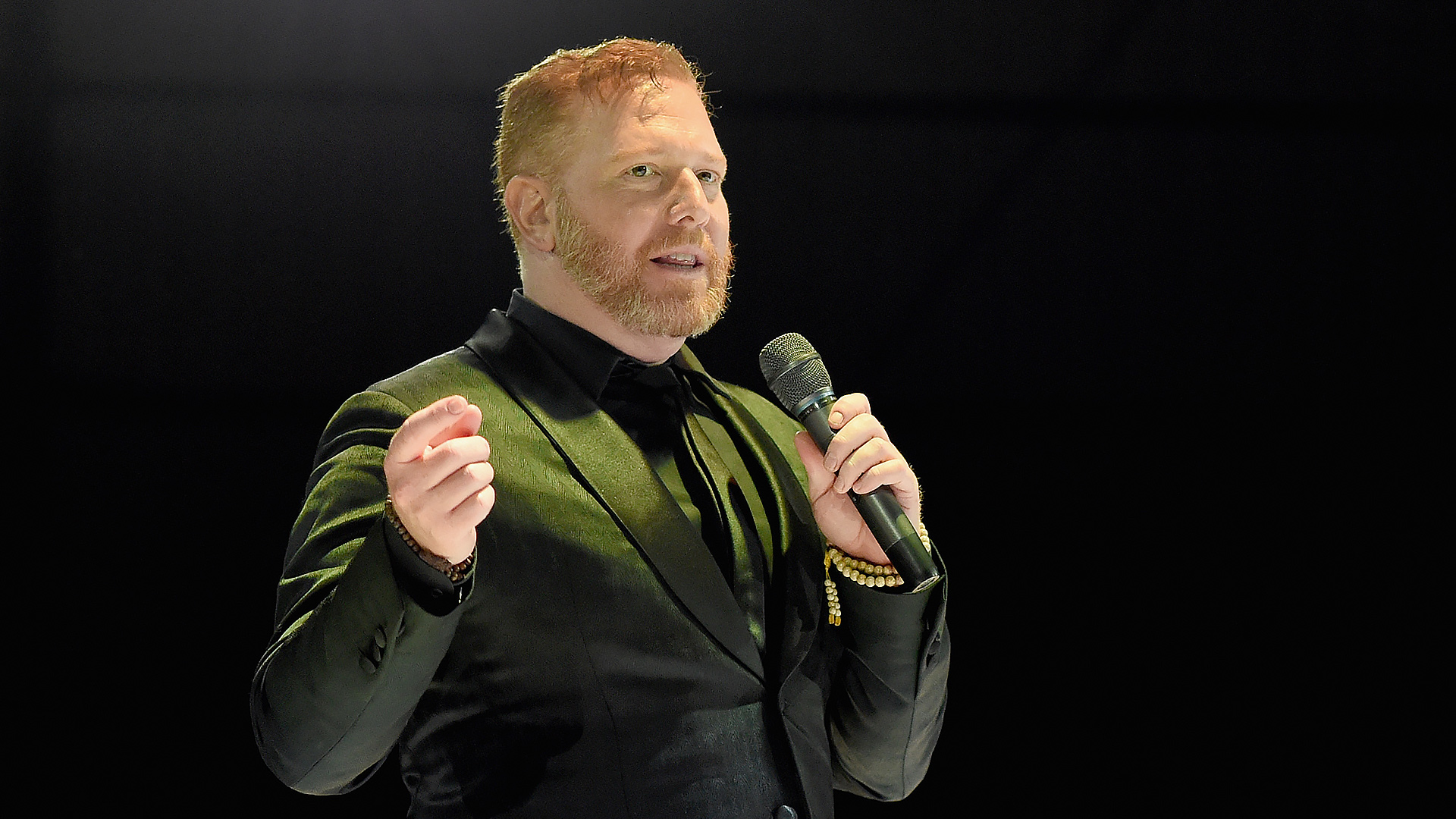 LOS ANGELES, CA - JANUARY 10: Founder and CEO of Relativity Media Ryan Kavanaugh speaks onstage at the 8th Annual HEAVEN Gala presented by Art of Elysium and Samsung Galaxy at Hangar 8 on January 10, 2015 in Los Angeles, California. (Photo by Michael Buckner/Getty Images for Art of Elysium)