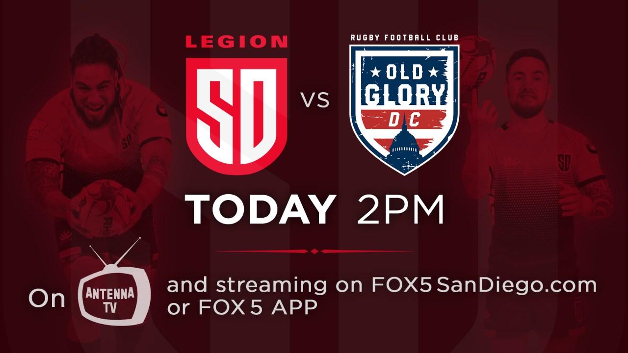 Watch Live: San Diego Legion at Old Glory DC